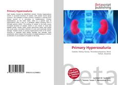 Copertina di Primary Hyperoxaluria