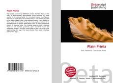 Bookcover of Plain Prinia