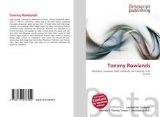Capa do livro de Tommy Rowlands