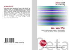 Bookcover of War War War