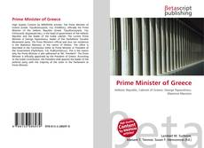Portada del libro de Prime Minister of Greece