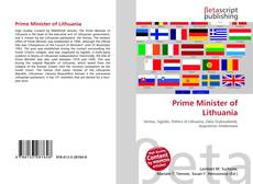 Prime Minister of Lithuania kitap kapağı