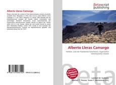 Bookcover of Alberto Lleras Camargo