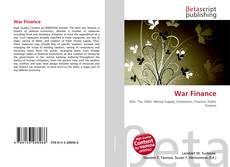 Bookcover of War Finance