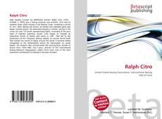 Ralph Citro kitap kapağı