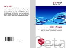 Capa do livro de War of Ages