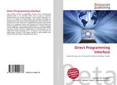 Обложка Direct Programming Interface