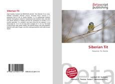 Siberian Tit kitap kapağı