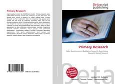 Borítókép a  Primary Research - hoz