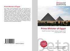 Prime Minister of Egypt kitap kapağı
