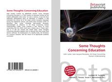 Couverture de Some Thoughts Concerning Education