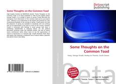 Couverture de Some Thoughts on the Common Toad