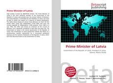 Portada del libro de Prime Minister of Latvia
