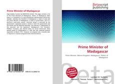Portada del libro de Prime Minister of Madagascar