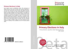 Bookcover of Primary Elections in Italy
