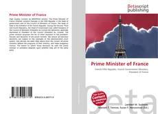Portada del libro de Prime Minister of France