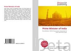 Prime Minister of India kitap kapağı
