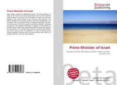 Portada del libro de Prime Minister of Israel