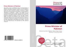 Prime Minister of Pakistan kitap kapağı