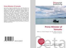 Prime Minister of Vanuatu kitap kapağı