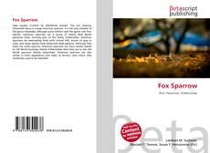 Bookcover of Fox Sparrow