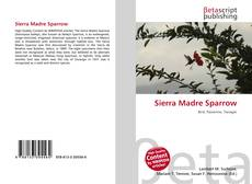 Buchcover von Sierra Madre Sparrow