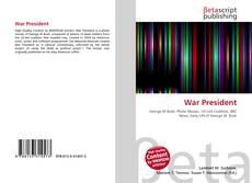 Bookcover of War President