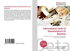 Bookcover of International Code of Nomenclature of Bacteria