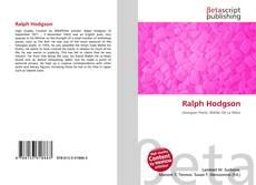 Bookcover of Ralph Hodgson