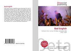 Bookcover of Bad English
