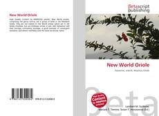 Bookcover of New World Oriole