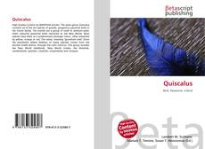 Buchcover von Quiscalus
