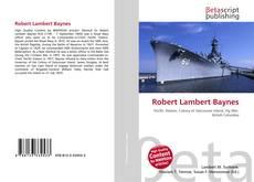 Bookcover of Robert Lambert Baynes