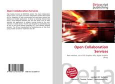 Portada del libro de Open Collaboration Services