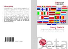 Buchcover von Georg Badeck