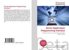 Buchcover von Server Application Programming Interface