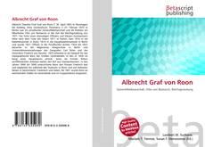 Couverture de Albrecht Graf von Roon