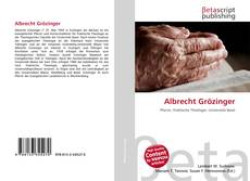 Bookcover of Albrecht Grözinger