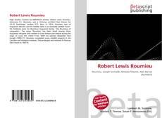 Bookcover of Robert Lewis Roumieu