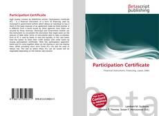 Borítókép a  Participation Certificate - hoz