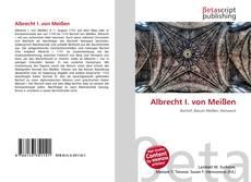 Portada del libro de Albrecht I. von Meißen