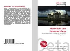 Borítókép a  Albrecht II. von Hohenrechberg - hoz