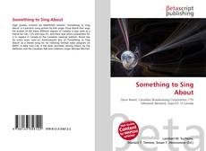 Portada del libro de Something to Sing About