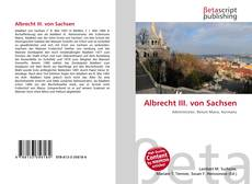 Обложка Albrecht III. von Sachsen