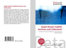 Buchcover von Ralph Rinzler Folklife Archives and Collections