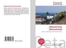 Bookcover of Albrecht Karl Kleinschmidt