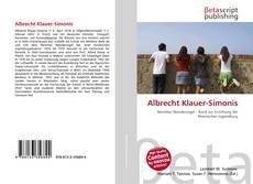 Capa do livro de Albrecht Klauer-Simonis