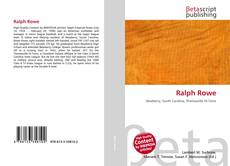 Bookcover of Ralph Rowe