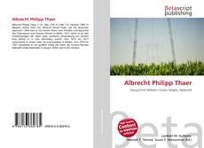 Buchcover von Albrecht Philipp Thaer
