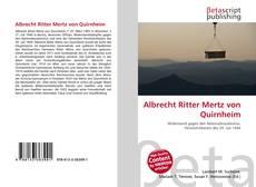 Bookcover of Albrecht Ritter Mertz von Quirnheim